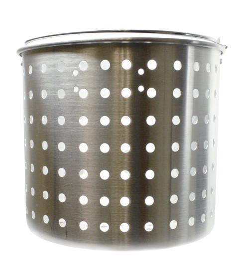 King Kooker 24 Quart Punched Aluminum Steamer & Draining Baskets KK24QT #KK24QT