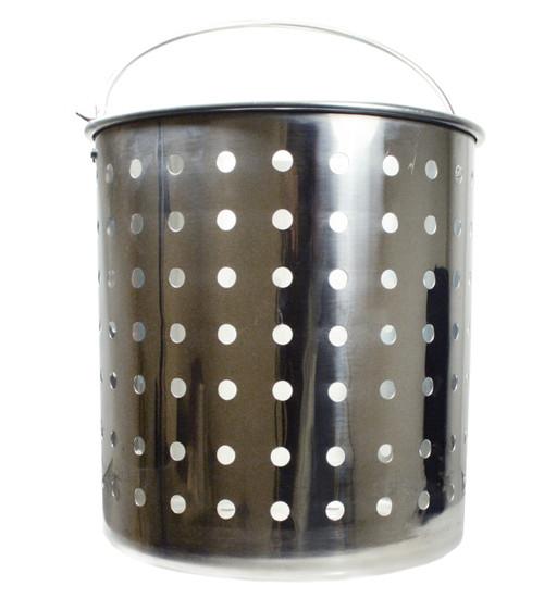King Kooker 32 Quart Punched Stainless Steel Steamer & Draining Baskets KKSS32QT #KKSS32QT