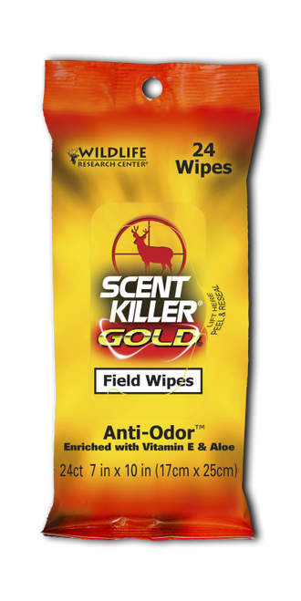 Wildlife Research Scent Killer Gold Field Wipes #1295