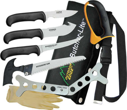 Outdoor Edge Butcher-Lite 8-Piece Game Proccessing Knife Set #BL-1