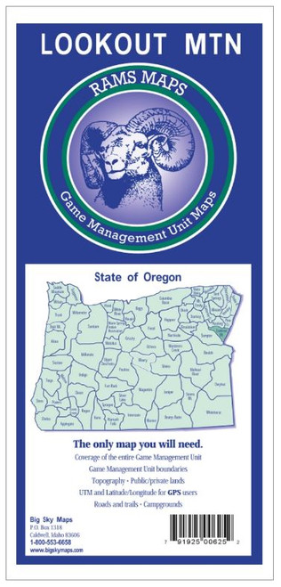 Rams Oregon Game Management Unit Maps LOOKOUT MT #LOOKOUT MT