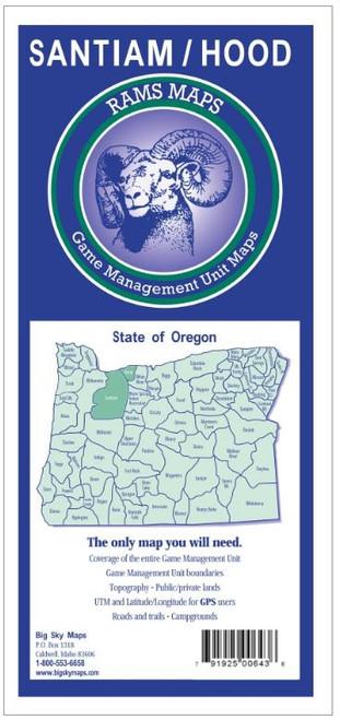 Rams Oregon Game Management Unit Maps SANTIAM/HOOD #SANTIAM/HO