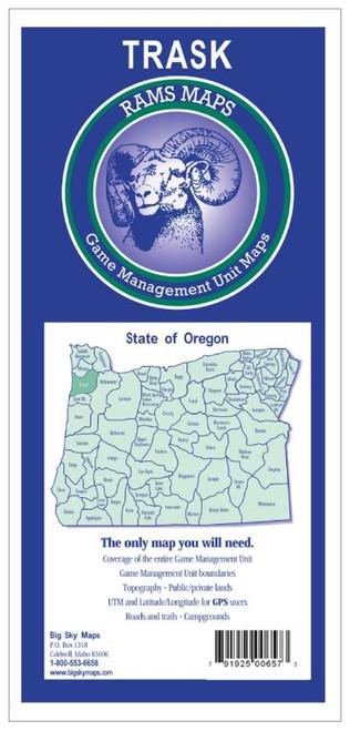 Rams Oregon Game Management Unit Maps TRASK #TRASK   16