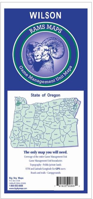 Rams Oregon Game Management Unit Maps WILSON #WILSON
