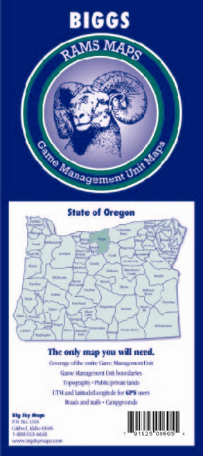 Rams Oregon Game Management Unit Maps BIGGS #BIGGS