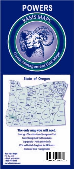 Rams Oregon Game Management Unit Maps POWERS #POWERS