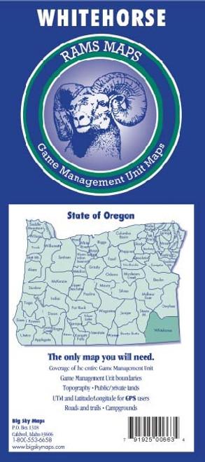 Rams Oregon Game Management Unit Maps WHITEHORSE #WHITEHORSE