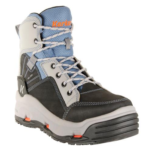 Korkers Buckskin Mary Women's Wading Boots FB2310-8 Tan, Sky Blue & Black #FB2310-8