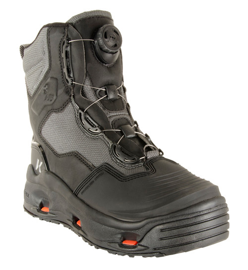 Korkers DarkHorse Wading Boots FB4710-8 Black & Gray #FB4710-8