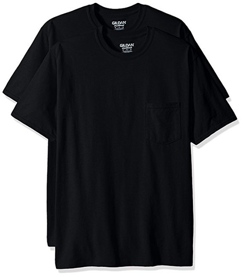 Gildan Men's 2-Pack Workwear Pocket T-Shirts