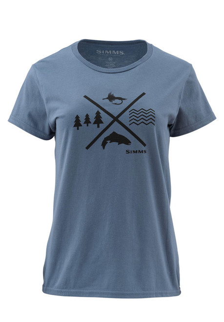 Simms Women's Trout Crossing Short Sleeve T-Shirt