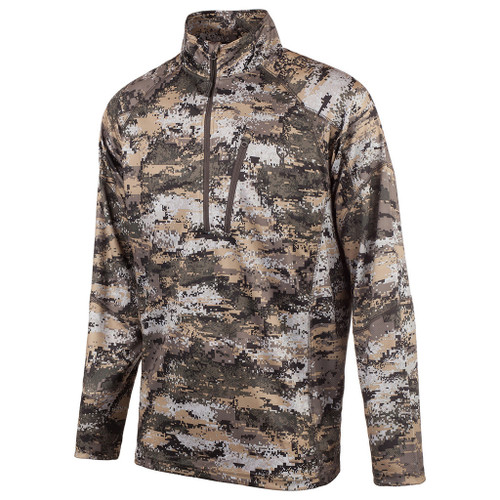 Huntworth Men's Disruption 1/4 Zip Long Sleeve Shirt L #9182-21DC-L
