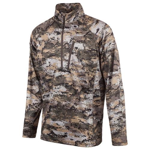Huntworth Men's Disruption 1/4 Zip Long Sleeve Shirt 2X #9182-21DC-2X