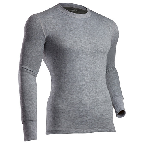 ColdPruf Platinum II Base Layer Long Sleeve Top GR M #75A-GRAY-M