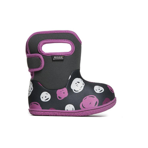 BOGS Baby Dots Waterproof Boots GRAY 9 #72169I-074-9
