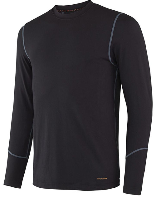 Terramar Thermolator 2.0 Men's Long Sleeve Crew BLK XL #W7543-010-XL