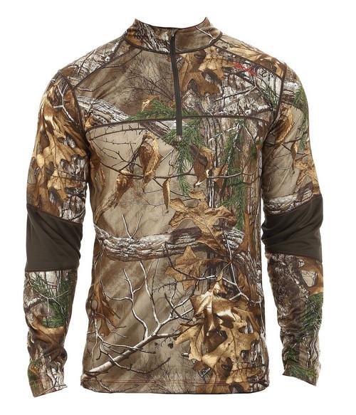 Terramar 3.0 Tracker Men's 1/4 Zip Camo Fleece Pullover RTX L #W8731-230-L
