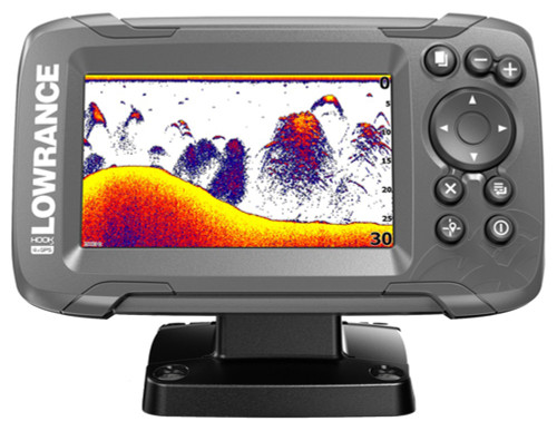 Lowrance HOOK²-4x Fishfinder with Bullet Skimmer Transducer #14012-001