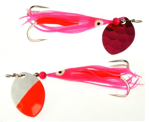 VIP Outdoors 3.5 Cascade Salmon Spinner 2-Pk SLMP BUSTR #3.5CAS-SLMPBSTR