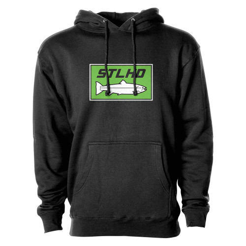 STLHD Black &  Neon Hooded Sweatshirts