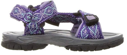 Northside Seaview Kid's Open Toe Sport Sandal PUR 5 #217324K546-5