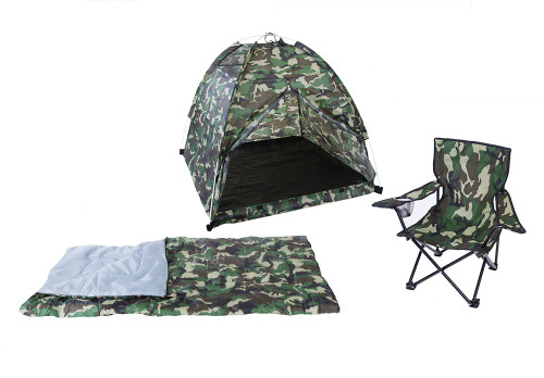 Pacific Play Tents Kid's Camo Camp Set GRN #23335