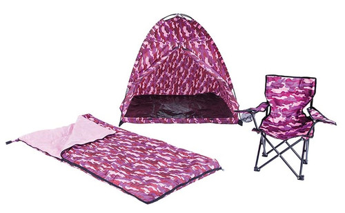 Pacific Play Tents Kid's Camo Camp Set PNK #23333