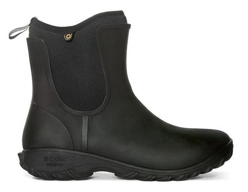 BOGS Women's Sauvie Slip-On Waterproof Boot  BLK 7 #72203-001-7