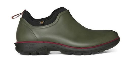 BOGS Men's Sauvie Slip-On Waterproof Shoe   DK GRN 11 #72207-301-11