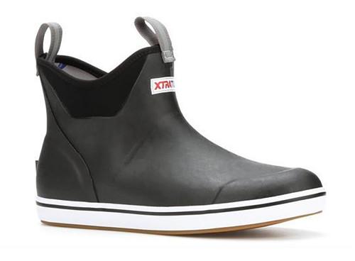 """XTRATUF Men's 6"""" Ankle Deck Boots 13 BLK #22736-BLK-13"""