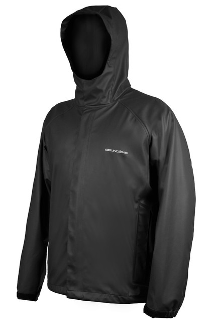 Grunden Neptune 319 Hooded Fishing Jacket  BLK 2X #10079-001-0017