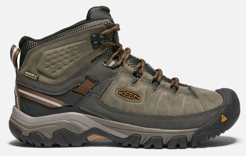 KEEN Men's Targhee III Mid-Rise Waterproof Hiking Boot  BLK/OLI 9.5 #1017787-9.5