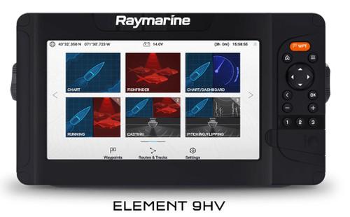 "Raymarine Element 9"" Sonar/GPS w/HV-100 & Navionics + US/Canada #E7053405NAG"