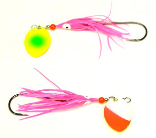 VIP Outdoors 3.5 Whip Salmon Spinner 2-Pk  ARMGDN #3.5CAWHIPARMA