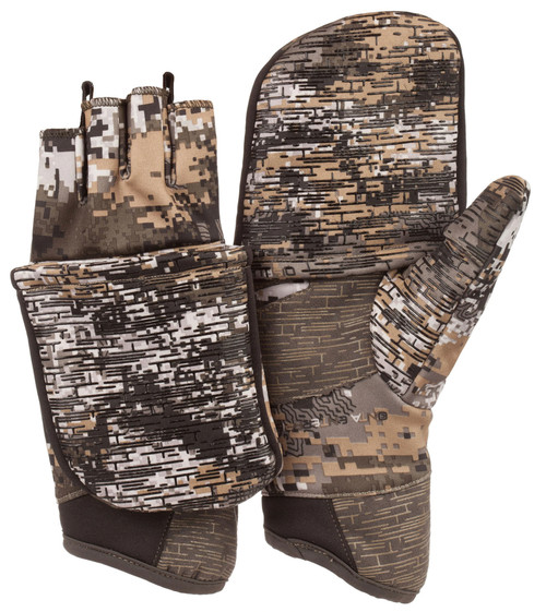 Huntworth Men's Stealth Disruption Mid-Weight Pop-Top Hunting Gloves  XL #1208-30DC-XL