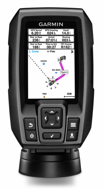 Garmin Striker Plus 4 GPS Fishfinder w/Dual Beam TM Transducer #010-01870-00