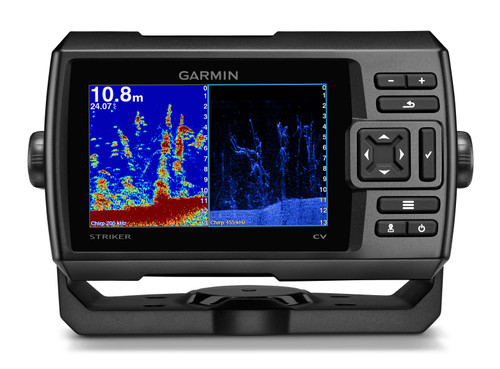 Garmin Striker Plus 5cv GPS Fishfinder w/CV-20TM Transducer #010-01872-00