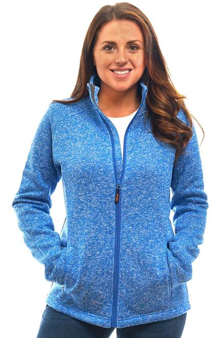 Trailcrest Women's Heather Signature Sweater Fleece Full Zip Jacket
