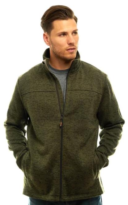 Trailcrest Men's Heather Signature Sweater Fleece Full Zip Jacket  OLI L #2066-023-L