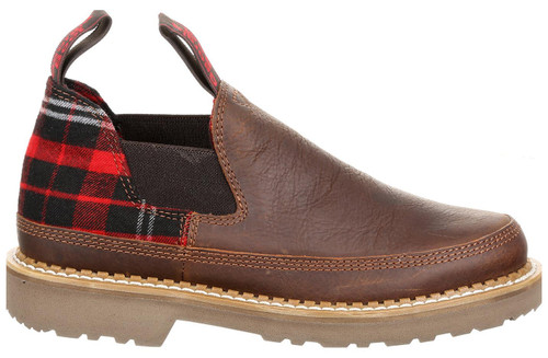 Georgia Boot Women's Brown & Plaid Giant Romeo Slip-On Shoe