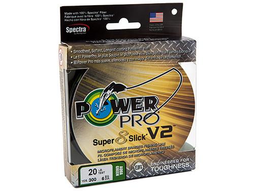 PowerPro Super Slick 8 V2 One Shot spool  65LBS X 300YDS AQUA GRN #31500650300C