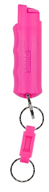 SABRE 3-In-1 Key Case Pepper Spray w/Quick Release Key Ring  PNK #HC-14-PK
