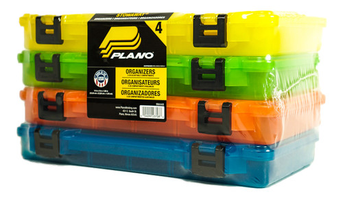 Plano Stowaway 4-Pack Multi-Colored Utility Boxes #2375039