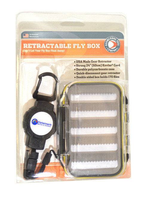 BOOMERANG TOOL Waterproof Fly Box w/Retractable Tether #OTBP-0091