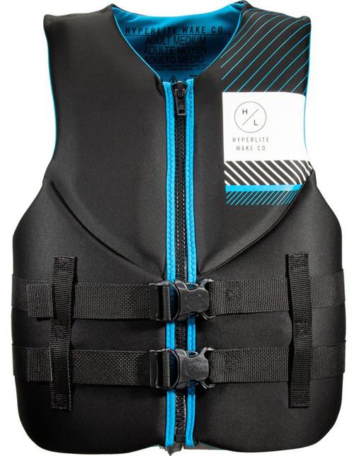 Hyperlite Men's Indy HRM CGA Safety Vest  BLK/BLU M #20600244
