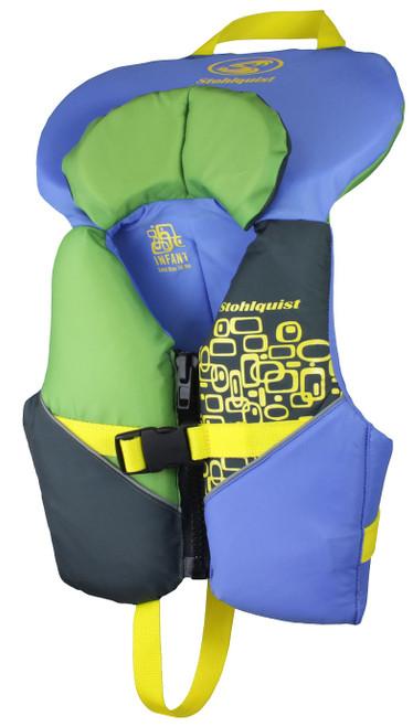 Stohlquist Infant Life Vest  BLU/GRN #QF1394003