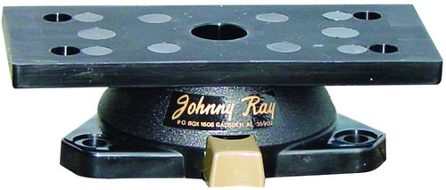 Johnny Ray JR-500 Marine 1.25x 3.5 inch Push Button Sonar Swivel Mount