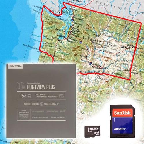 Garmin Huntview Plus Map Card- Washington