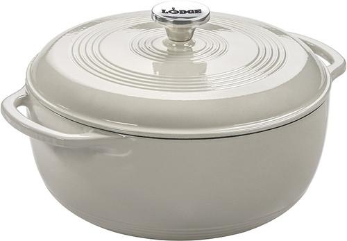 Lodge Enamel 6-QT Dutch Oven (White)