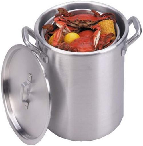 King Kooker-60Qt Aluminum boiling pot w/basket & lid